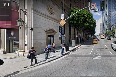 Google Street View image of 5th Street at Olive Street